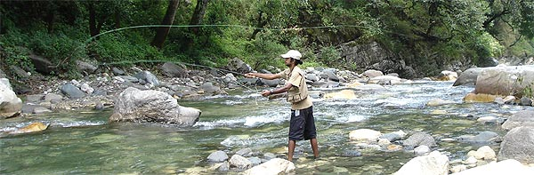 Book your Mahseer fishing holiday on our trout rivers